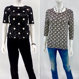 J. CREW-Size XS-Sequin Top & Sweater-BUNDLE